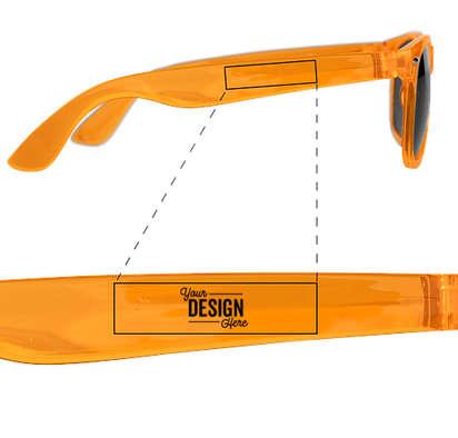 Crystal Sun Ray Sunglasses - True Orange