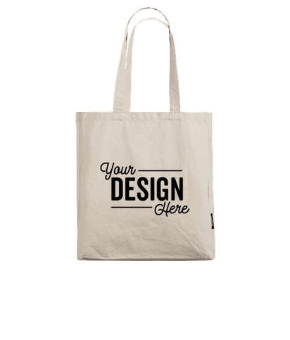 Bagito 100% Organic Cotton Gusseted Tote Bag - Natural Cotton
