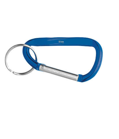 Laser Engraved Small Carabiner Keychain - Blue