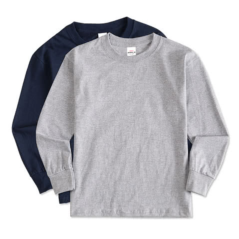 Hanes Youth Long Sleeve Tagless T-shirt