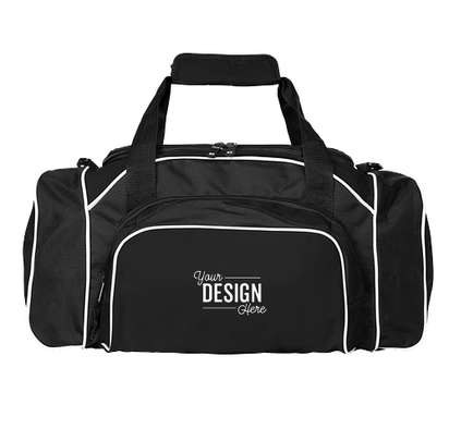 Holloway League Duffel Bag - Black / Black / White