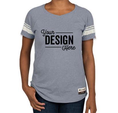 Champion Authentic Women's Tri-Blend Varsity T-shirt - Blue Jazz Heather
