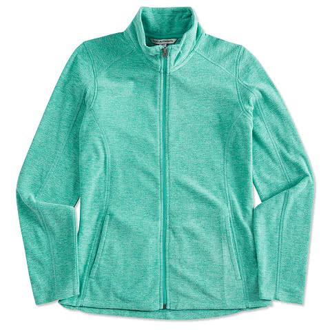 Port Authority Women's Heather Microfleece Full Zip Jacket