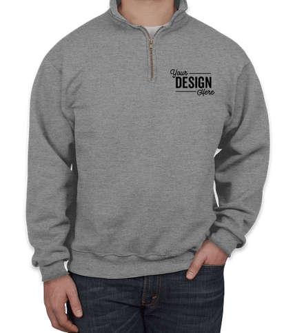 Jerzees Super Sweats 50/50 Quarter Zip Sweatshirt - Oxford