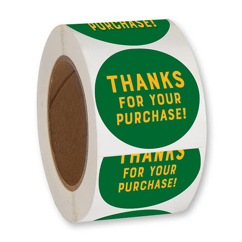 Full Color 2.5 in. Circle Roll Labels (500 per roll)