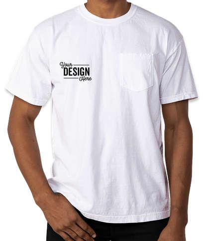 Comfort Colors 100% Cotton Pocket T-shirt - White