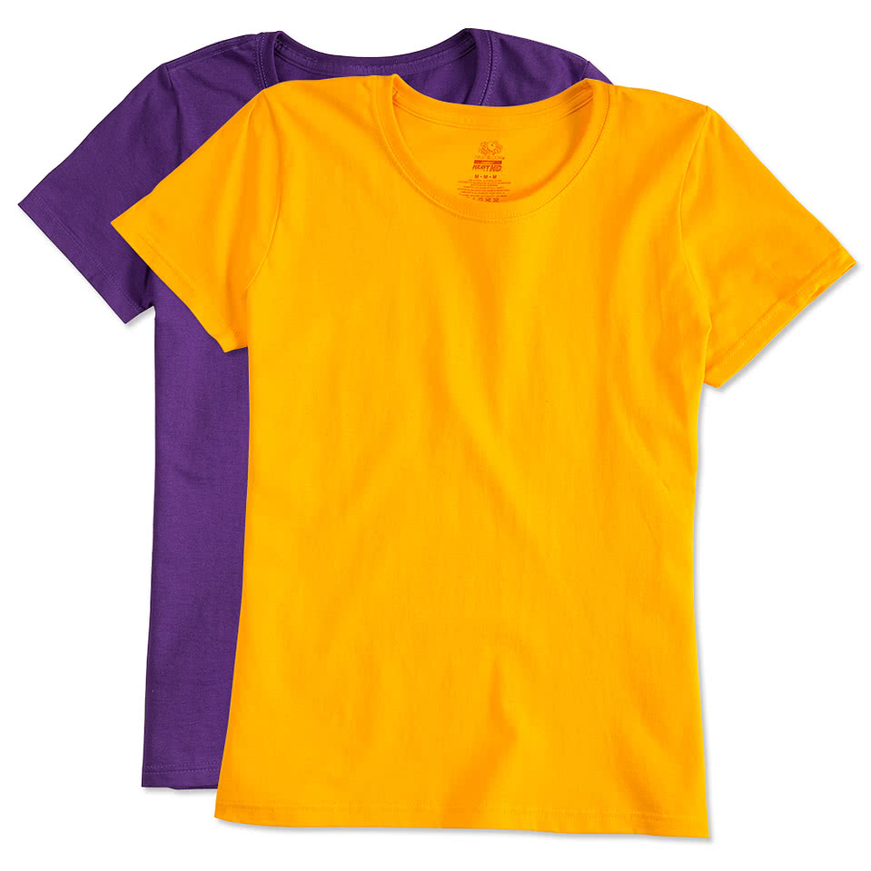 Custom fruit of the loom ladies 100 cotton t shirt for Fruit of the loom custom t shirts