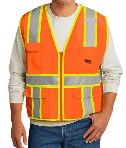CornerStone Class 2 Two-Tone Surveyor Safety Vest - Safety Orange