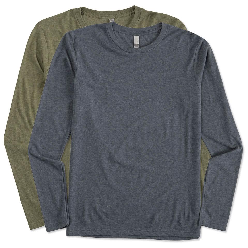 Custom next level tri blend long sleeve t shirt design for Long sleeve t shirts design