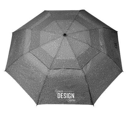 "46"" Cutter & Buck Auto Open/Close Vented Folding Umbrella - Charcoal"