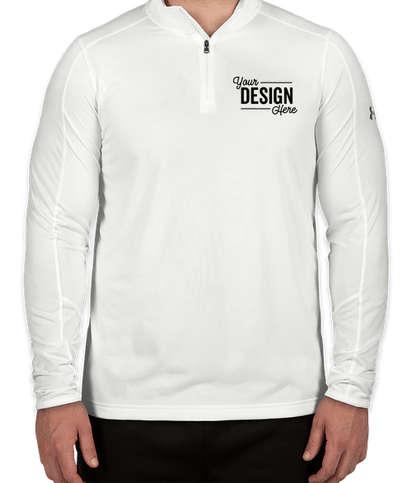 Under Armour Tech Quarter Zip Performance Shirt - White