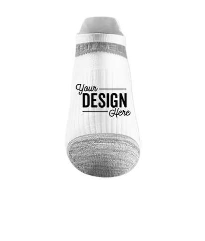 Premium Compression No Show Socks - White