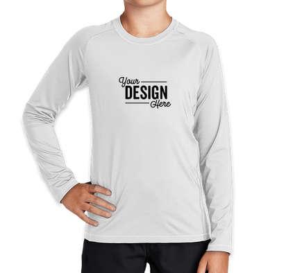 Sport-Tek Youth Long Sleeve Rash Guard Shirt - White