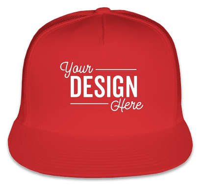Yupoong Solid Classic Trucker Hat - Red