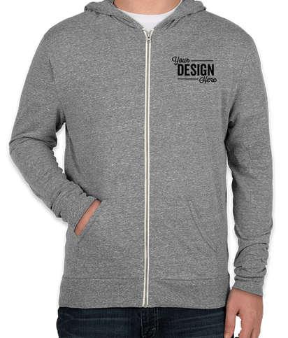 Canada - Threadfast Tri-Blend Full Zip T-shirt Hoodie - Grey Triblend