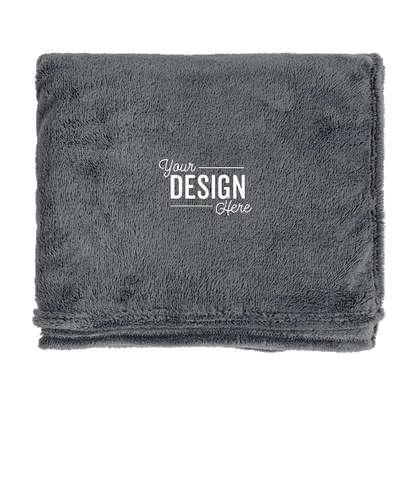 Kanata Soft Touch Velura Oversized Blanket - Flint Gray