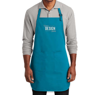 Port Authority Two-Pocket Full Length Apron - Sapphire