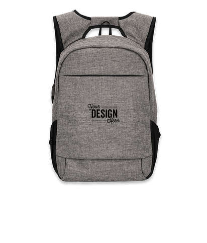"""Midtown Anti-Theft 15"""" Computer Backpack - Gray"""