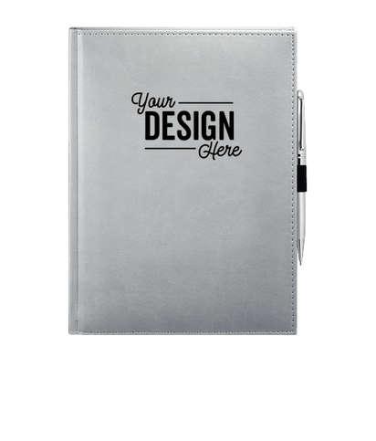 JournalBooks ® Debossed Pedova Large Bound Notebook - Gray