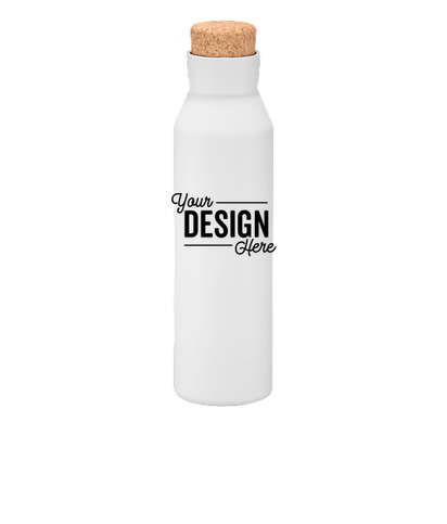20 oz. Copper Vacuum Insulated Water Bottle with Screw-on Lid - White