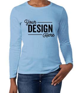 Gildan Women's 100% Cotton Long Sleeve T-shirt