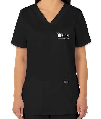 Cherokee Workwear Revolution Women's V-Neck Scrub Top - Black