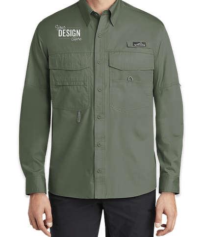 Eddie Bauer Long Sleeve Fishing Shirt - Seagrass Green