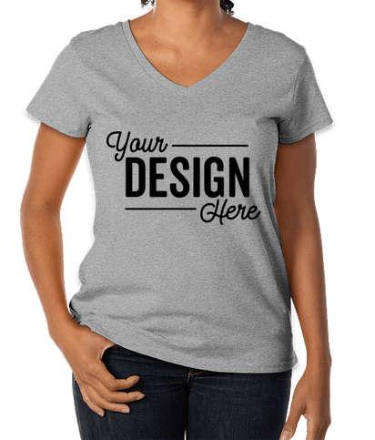 District Women's Re-Tee V-Neck T-shirt - Light Heather Grey