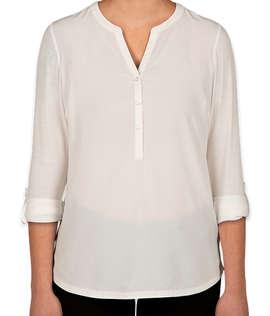 Port Authority Women's Henley Tunic Blouse