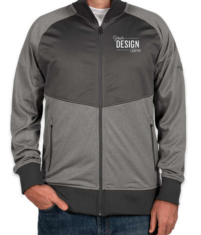The North Face Color Blocked Tech Full-Zip Fleece Jacket - Medium Grey Heather / Asphalt