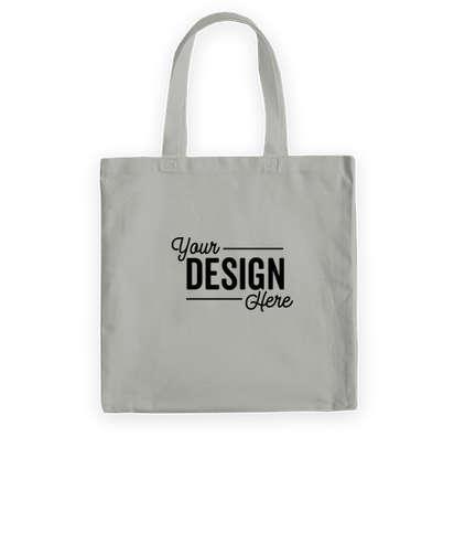 Medium Midweight 100% Cotton Canvas Tote Bag - Grey