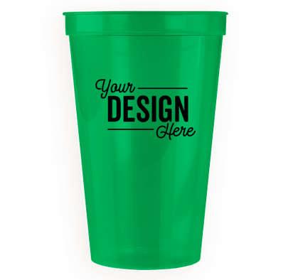 22 oz. Translucent Plastic Stadium Cup - Translucent Green