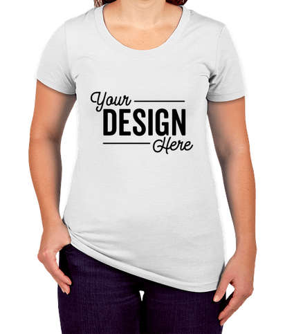 Bella + Canvas Women's Slim Fit Tri-Blend T-shirt - Solid White Tri-Blend