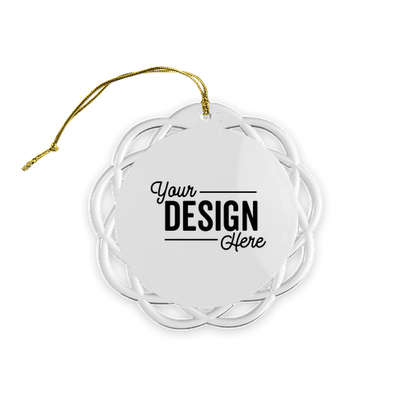 Shatterproof Flat Ornament - Clear with Gold Cord