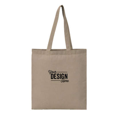 Recycled Cotton Twill Tote Bag - Natural