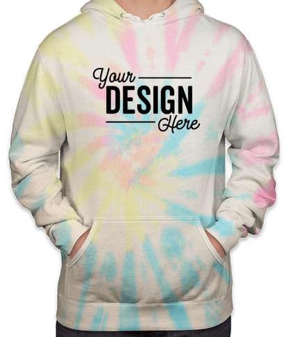 Independent Trading Tie-Dye Pullover Hoodie - Tie Dye Sunset Swirl