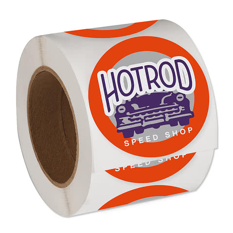 Full Color 3.5 in. Circle Roll Labels (500 per roll)