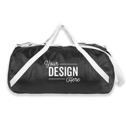 Nylon Roll Duffel Bag - Black