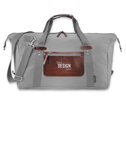 Debossed Field & Co. Classic Duffel Bag - Light Gray