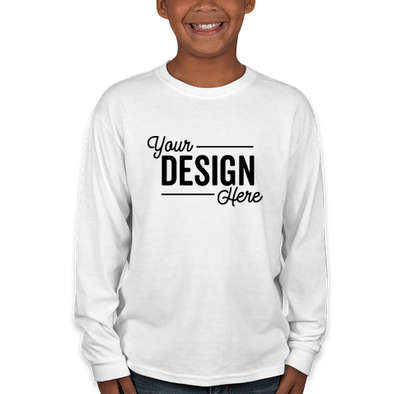 Jerzees Youth 50/50 Long Sleeve T-shirt - White