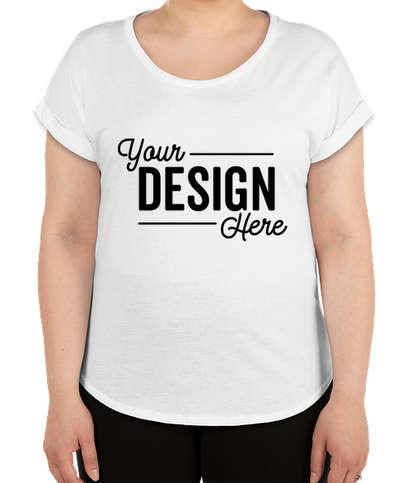 Next Level Women's Rolled Sleeve Dolman T-shirt - White