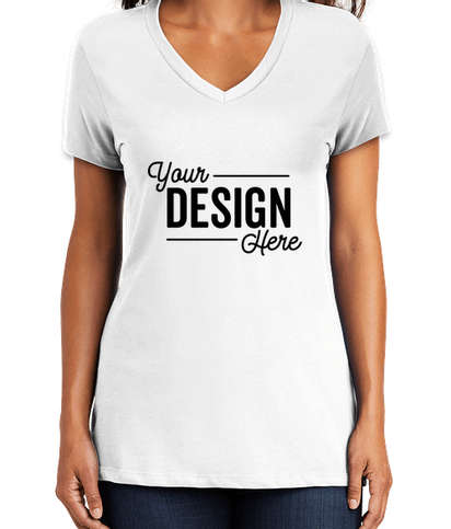 District Women's Perfect Weight V-Neck T-shirt - Bright White
