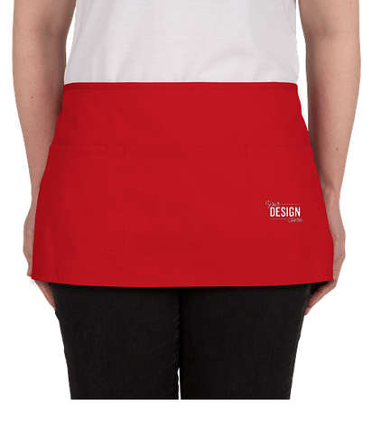 Port Authority Stain Release Waist Apron - Embroidered - Red