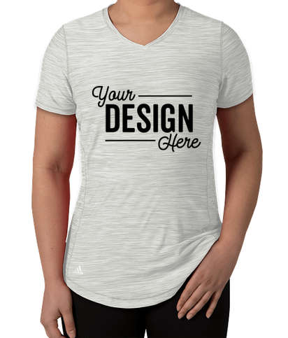 Adidas Women's Tech Heathered Performance Shirt - Mid Grey Melange