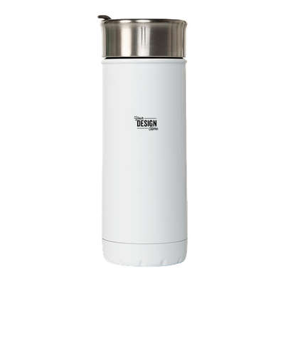 S'ip by S'well Laser Engraved 16 oz. Insulated Travel Tumbler - Flat White