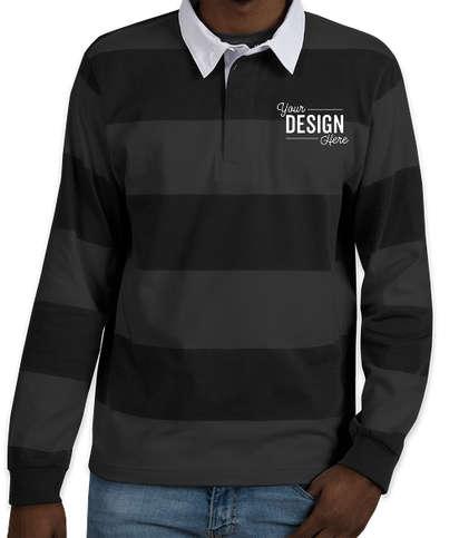 Charles River Classic Rugby Shirt - Black / Grey