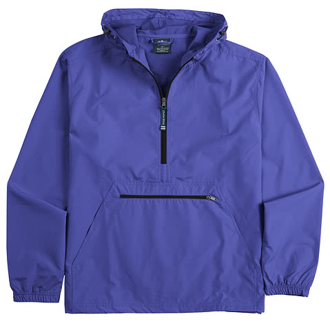 Charles River Pack-N-Go Hooded Packable Anorak - Embroidered