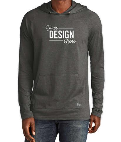 New Era Tri‑Blend Long Sleeve Hooded Shirt - Graphite