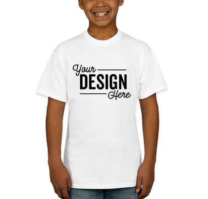 Hanes Youth EcoSmart 50/50 T-shirt - White