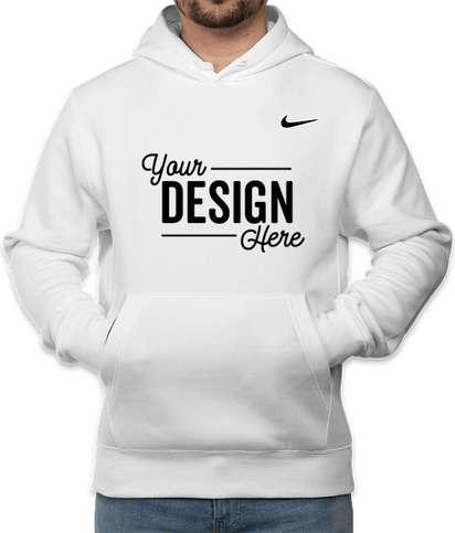 Nike Club Fleece Pullover Hoodie - White